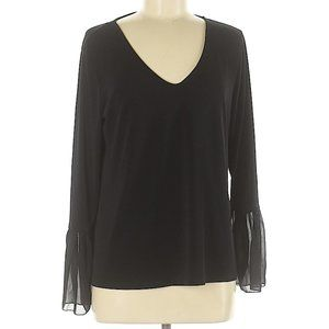 Banana Republic Factory Black V-neck Blouse Size M